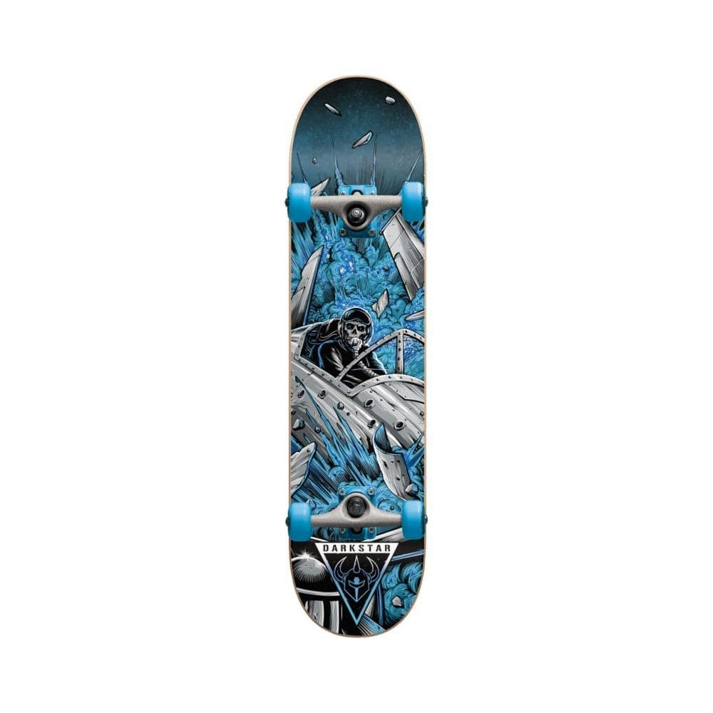 "Darkstar Skateboard Complete Jet Fighter Youth 6.75""MICRO Blue - 50-50 Skate Shop"