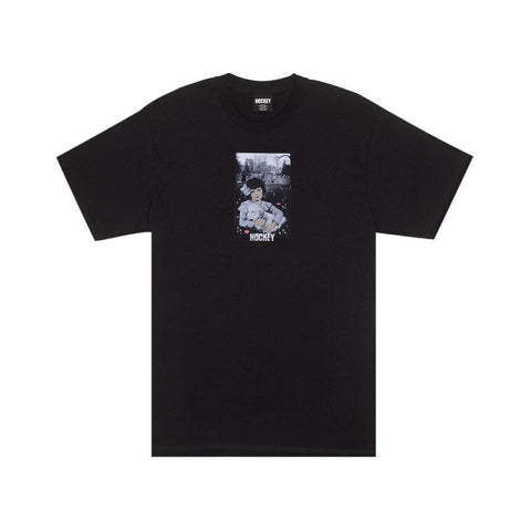 Hockey Lamb Girl T-Shirt Black - 50-50 Skate Shop