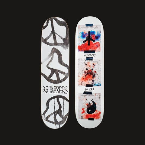 "Numbers Edition Skateboard Deck Silvas Edition 5 8.38"" x 32.12"" - 50-50 Skate Shop"