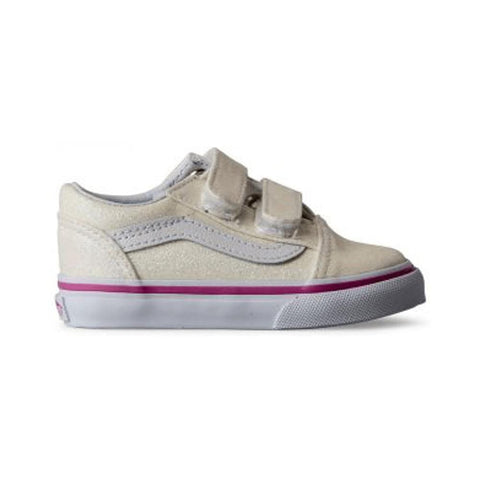 Vans Toddler Old Skool V (Glitter) Rainbow White - 50-50 Skate Shop