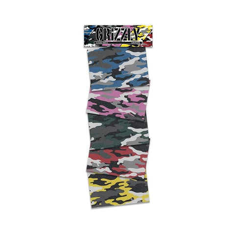 Grizzly Camo Griptape Pack Squares - 50-50 Skate Shop