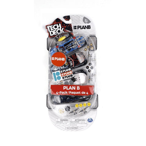 Tech Deck Plan B Skateboard 4 Pack-50-50 Skate Shop