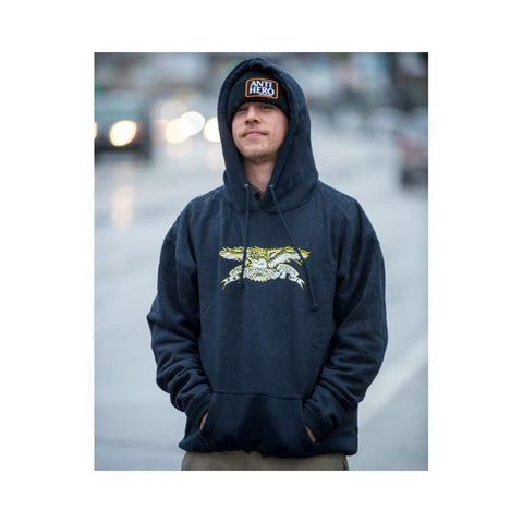 Anti hero Sweatshirt Hoodie Eagle Slate Blue - 50-50 Skate Shop
