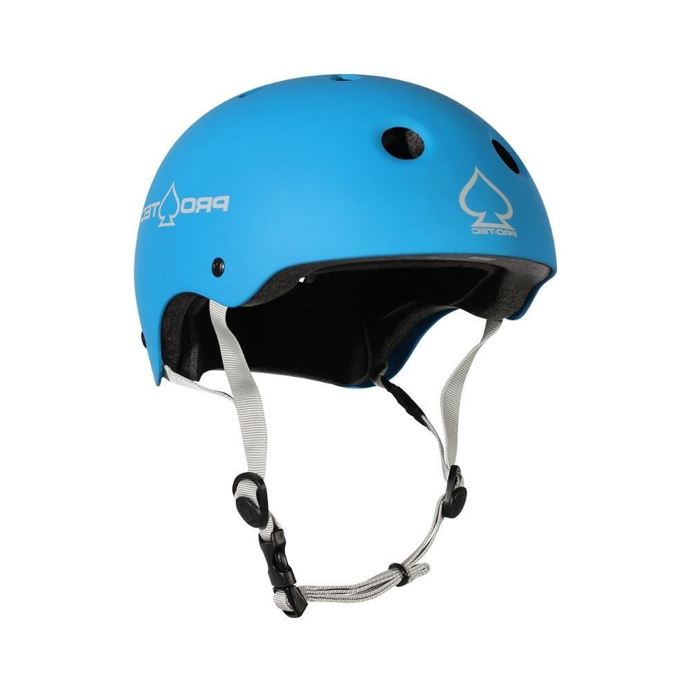 Pro Tec Classic Certified Skate Bike Junior Helmet Matte Blue - 50-50 Skate Shop