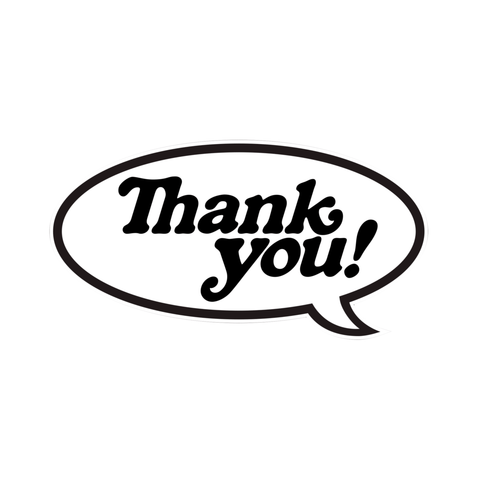 Thank You Skate Sticker Bubble Logo Single Sticker - 50-50 Skate Shop