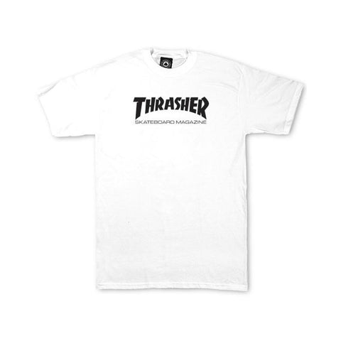 Thrasher Youth Skate Mag Tee White-50-50 Skate Shop