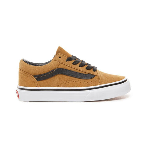 Vans Kids Old Skool (Suede) Cumin Black - 50-50 Skate Shop