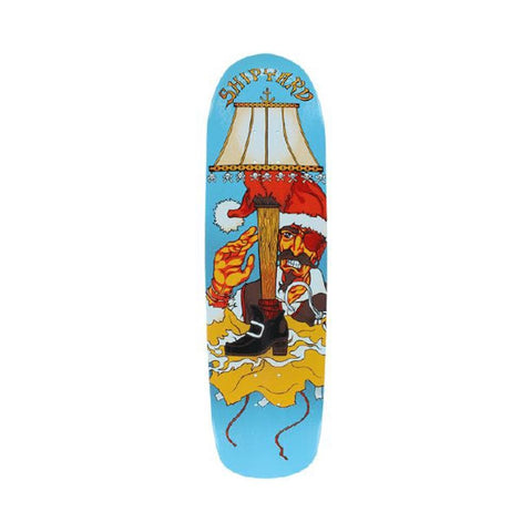"Shipyard Skateboard Deck Custom Shape Pirate Love 8.75"" x 32.5"" Blue-50-50 Skate Shop"