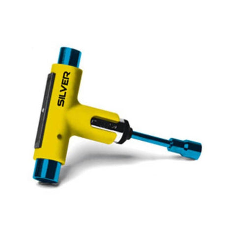 Silver Skate T-Tool Neon Yellow Blue-50-50 Skate Shop