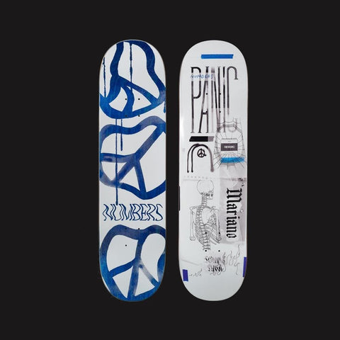 "Numbers Edition Skateboard Deck Mariano Edition 5 - 8.4"" x 32.1"" - 50-50 Skate Shop"
