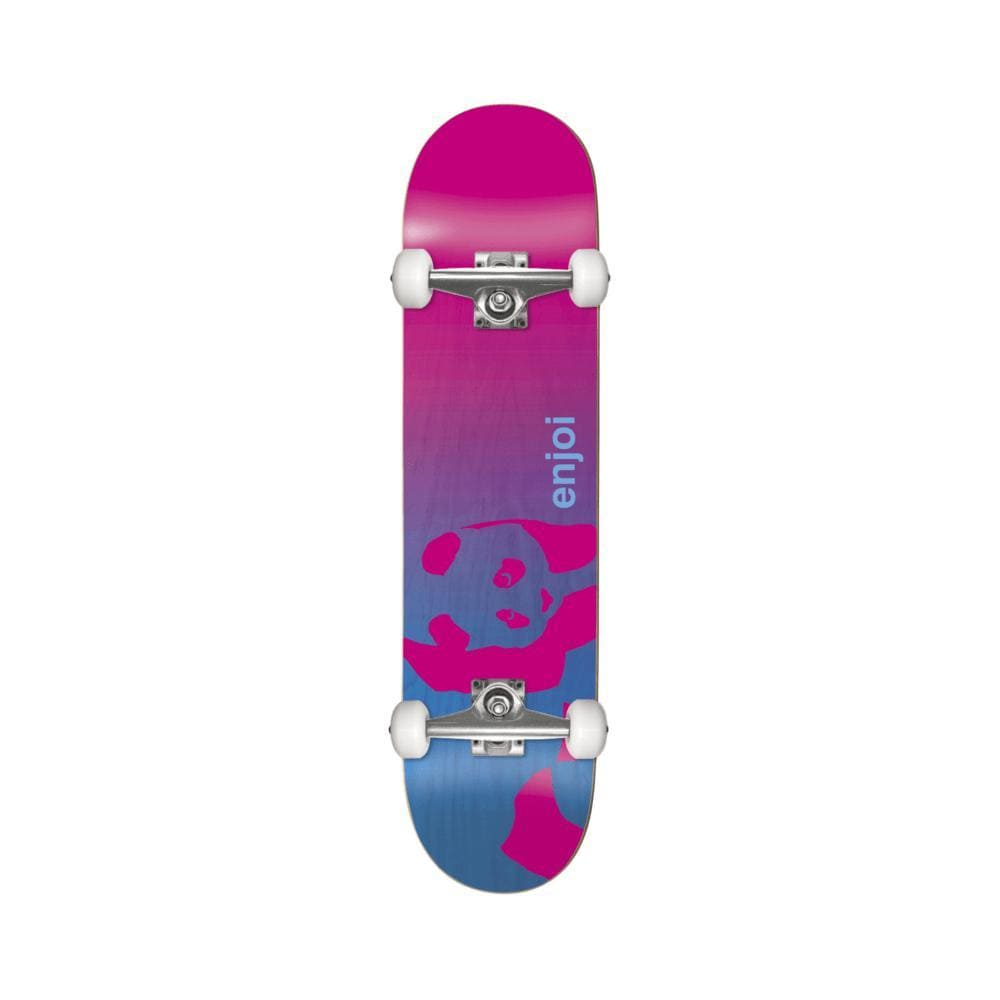"Enjoi Skateboard Complete Faded Panda Soft Top 6.5"" Micro Blue Pink-50-50 Skate Shop"