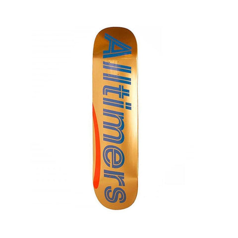"Alltimers Skateboard Skateboard Deck Shiny Oranges Logo 8.38"" - 50-50 Skate Shop"