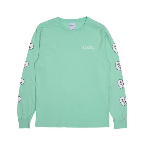 Ripndip Love Nerms Long Sleeve Tee Mint-50-50 Skate Shop