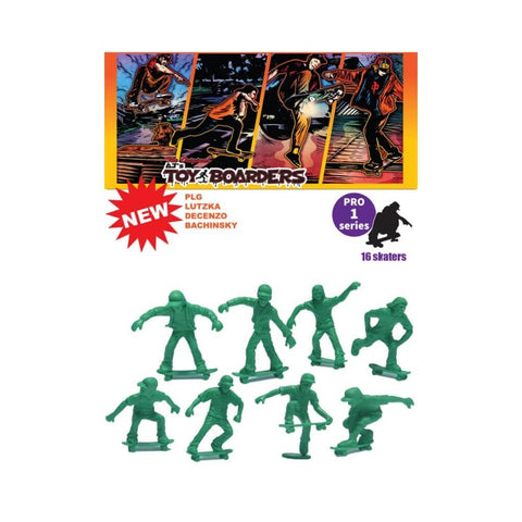 AJ's Toyboarders Pro 1 Skate Green (16 Pack) - 50-50 Skate Shop