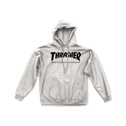 Thrasher Skate Mag Logo Hoodie Light Grey-50-50 Skate Shop