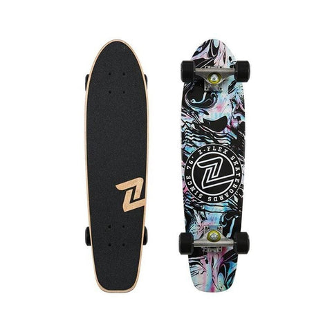 Zflex Skateboard Cruiser Complete SMU JA Cruiser Acid Black-50-50 Skate Shop