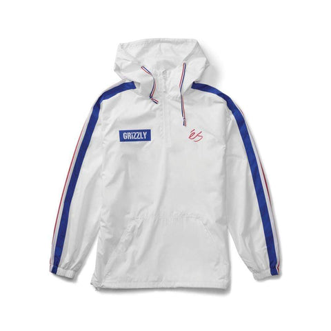 ES X Grizzly Match Anorak Jacket White_5130001834-100