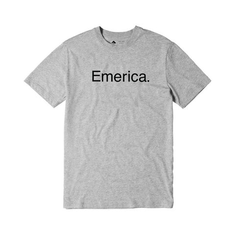 Emerica Pure Logo Short Sleeve Tee Grey Heather - 50-50 Skate Shop