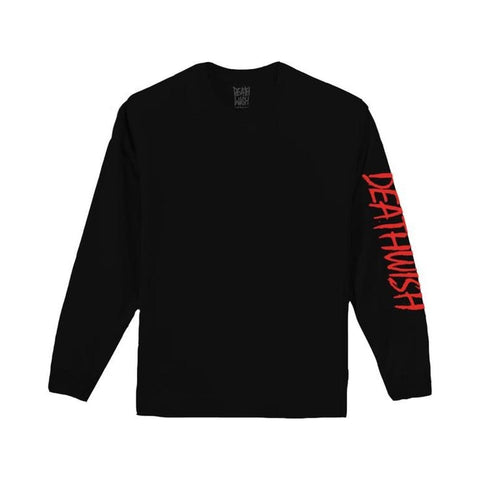Deathwish Tee - Eazy Black Long Sleeve - 50-50 Skate Shop