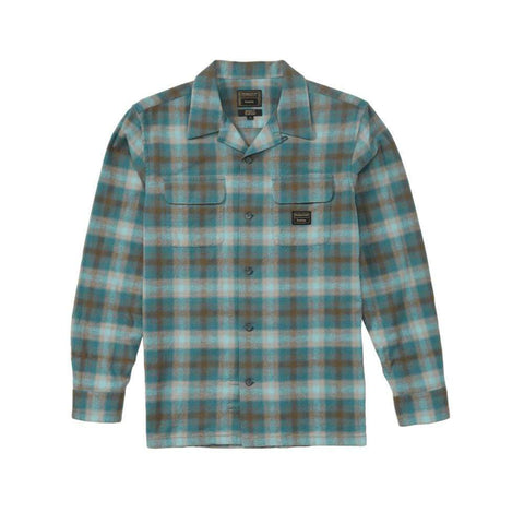 Emerica Pendleton Long Sleeve Flannel Blue - 50-50 Skate Shop