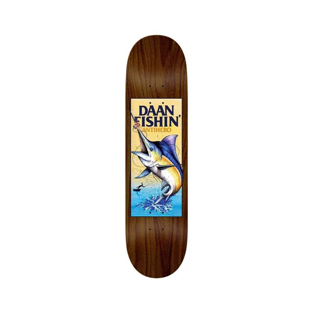 "Anti Hero Skateboard Deck Fishin Dann 8.28"" x 31.5"" - 50-50 Skate Shop"