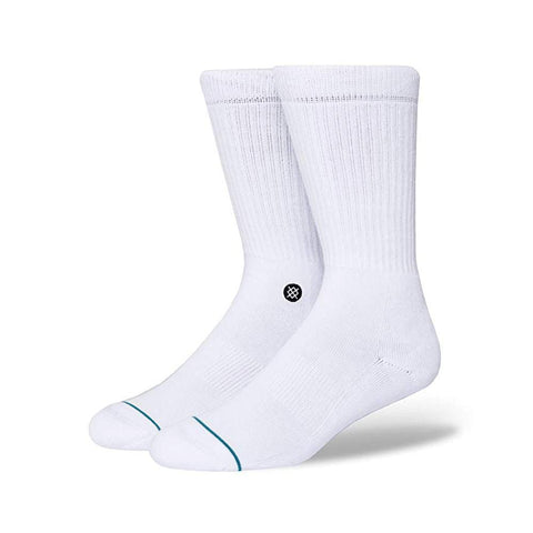 Stance Mens Icon Athletic Socks White Black-50-50 Skate Shop