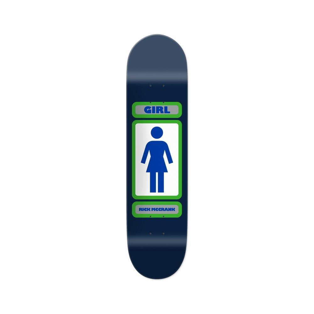 "Girl Skateboard Deck 93 Til WR 37 Rick McCrank 8.5"" x 32"" Navy-50-50 Skate Shop"