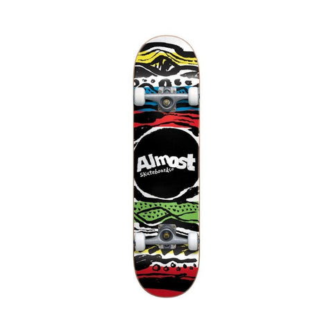 "Almost Skateboard Complete Primal Print FP 7.75"" FULL Multi-50-50 Skate Shop"
