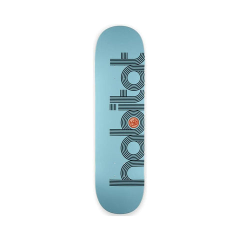 "Habitat Skateboard Deck Ellipse PP Large 8.5"" x 32.5"" Aqua - 50-50 Skate Shop"