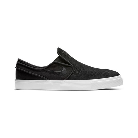 Nike SB Zoom Stefan Janoski Slip On Black Black White-50-50 Skate Shop