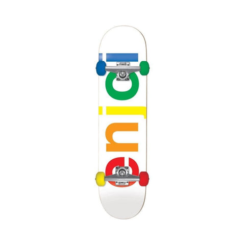 "Enjoi Skateboard Spectrum Complete White 7.5""-50-50 Skate Shop"