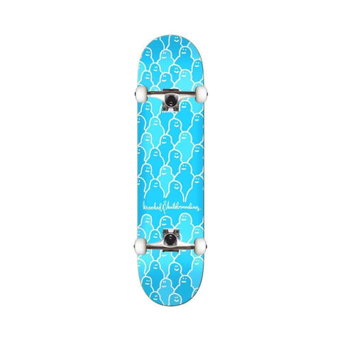 "Krooked Skateboard Complete Krouded 7.75"" BLue - 50-50 Skate Shop"