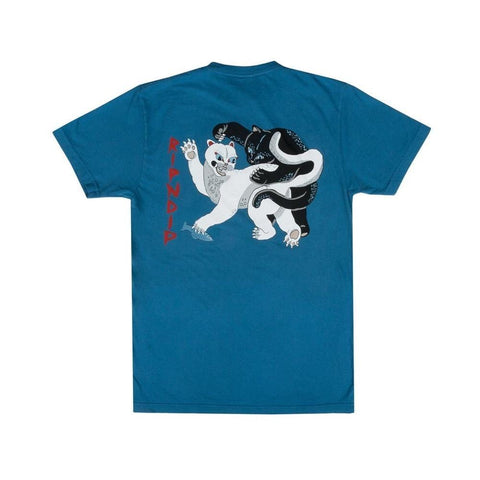 Ripndip Brawl Tee Harbor Blue-50-50 Skate Shop