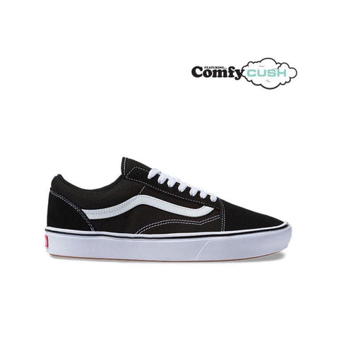 Vans ComfyCush Old Skool (Classic) Black True White-50-50 Skate Shop