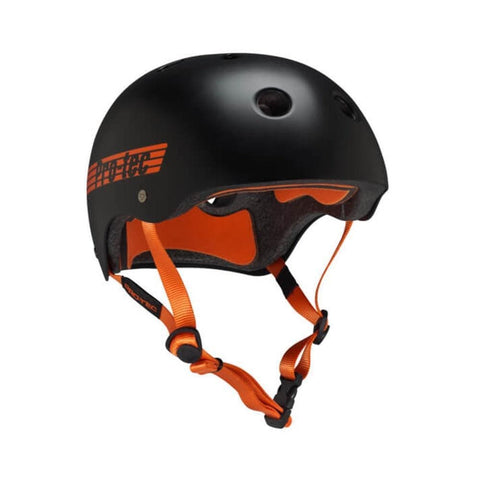 Pro Tec Classic Certified Bike Skate Helmet Bucky Lasek Black Orange-50-50 Skate Shop