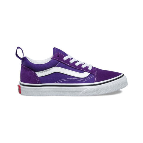 Vans Kids Old Skool Elastic Lace Heliotrope True White - 50-50 Skate Shop