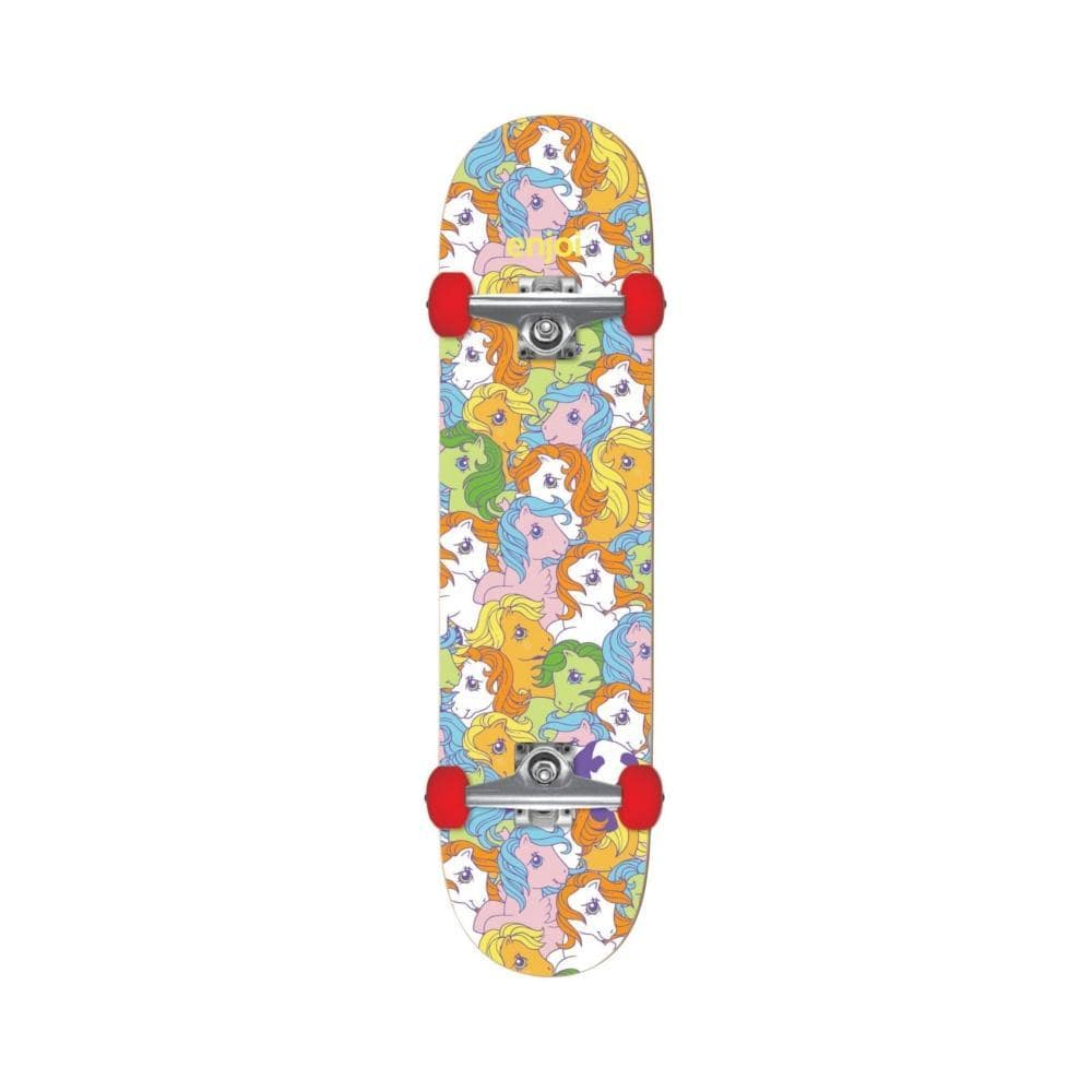 "Enjoi Skateboard Complete My Little Pony Soft Wheel 7.625"" FULL Multi-50-50 Skate Shop"