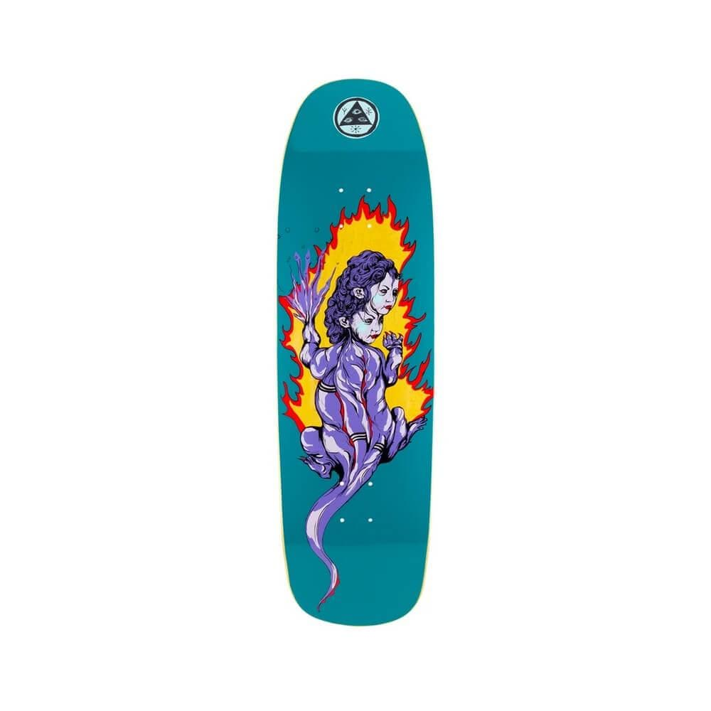 "Welcome Skateboard Deck Komodo Queen On Golem 9.25"" x 32.6"" Dark Teal 14.75"" WB - 50-50 Skate Shop"