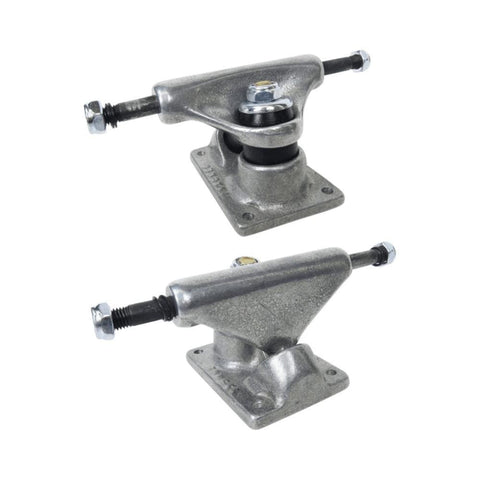 Tracker Skateboard Trucks Midtrack 85mm (6 Inch) Silver (1 Pair)-50-50 Skate Shop