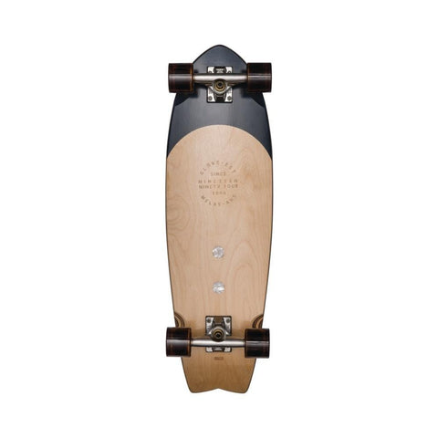 "Globe Skateboard Cruiser Complete Sun City 30"" Black Burle/White Pearl-50-50 Skate Shop"
