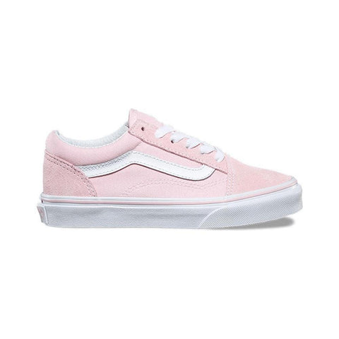 Vans Kids Old Skool Suede Canvas Chalk Pink True White - 50-50 Skate Shop