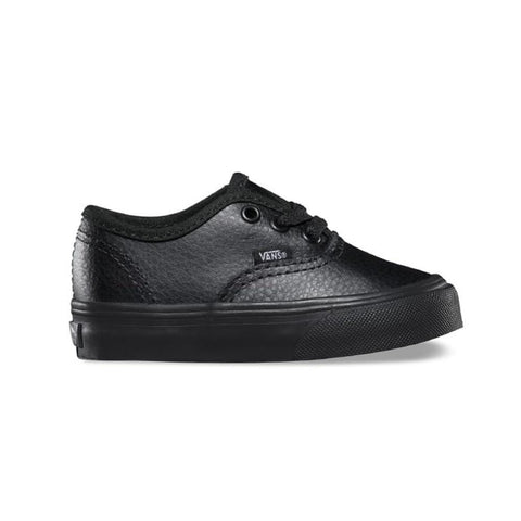 Vans Toddler Authentic Leather Black Black