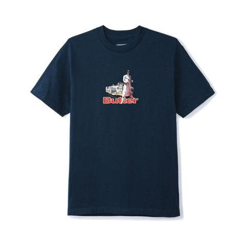 Butter Goods Priest Tee Navy - 50-50 Skate Shop