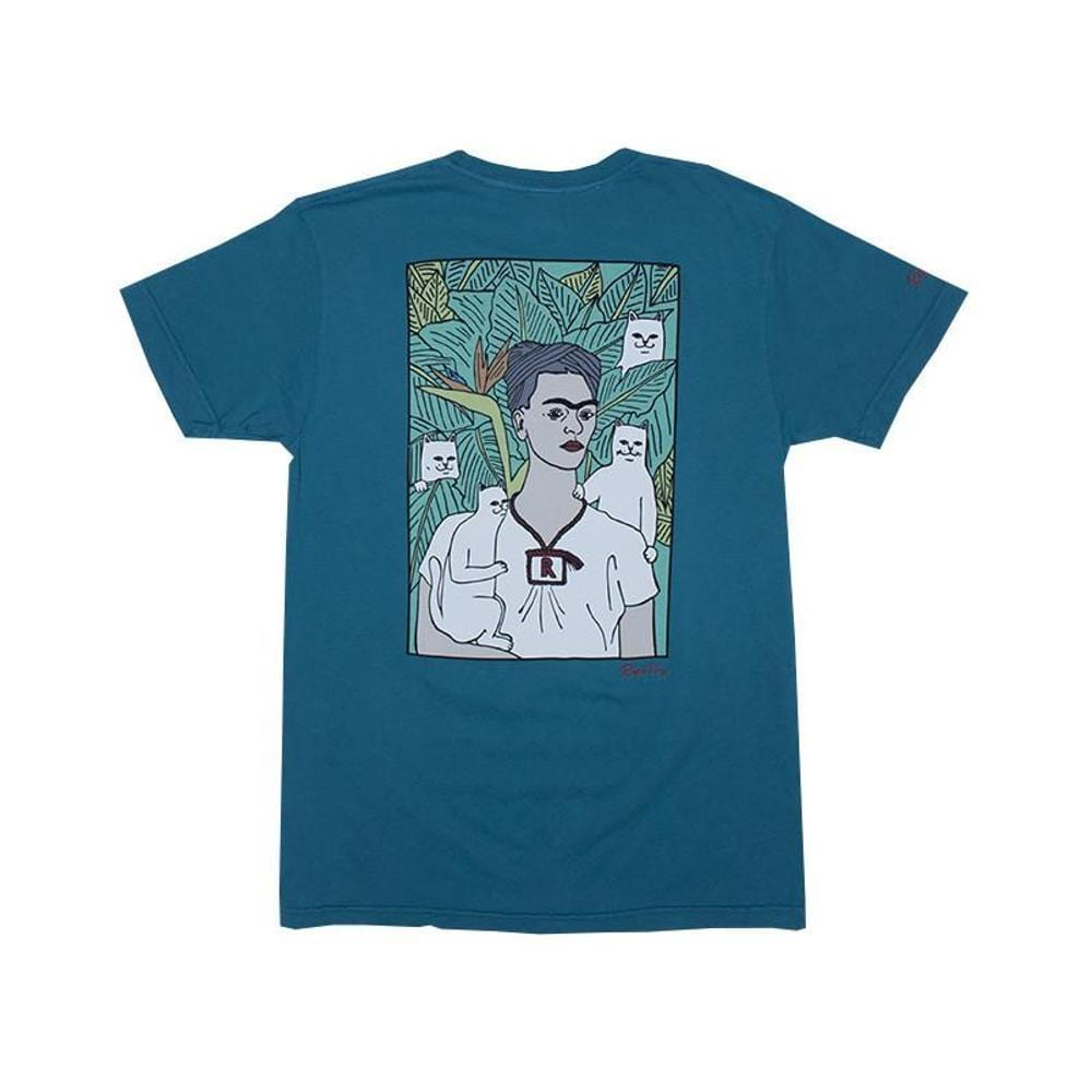 Ripndip Nermal Portrait Tee Deep Sea Green-50-50 Skate Shop