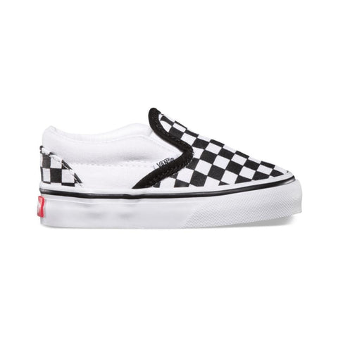 Vans Toddler Classic Slip On Black and White Small Checkerboard-50-50 Skate Shop