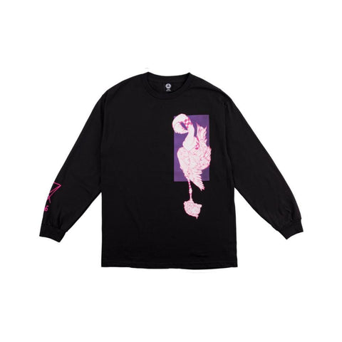 Welcome Rubberneck Long Sleeve Tee - Black/Purple/Pink - 50-50 Skate Shop