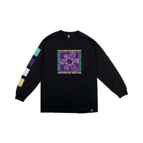 Welcome Seance Long Sleeve Tee - Black - 50-50 Skate Shop