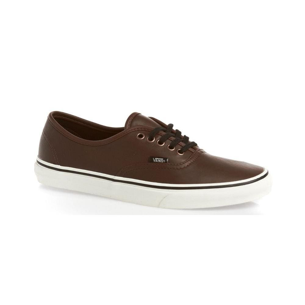Vans Authentic (Aged Leather) Brown-50-50 Skate Shop