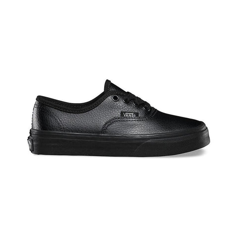 Vans Kids Authentic Leather Black Black - 50-50 Skate Shop
