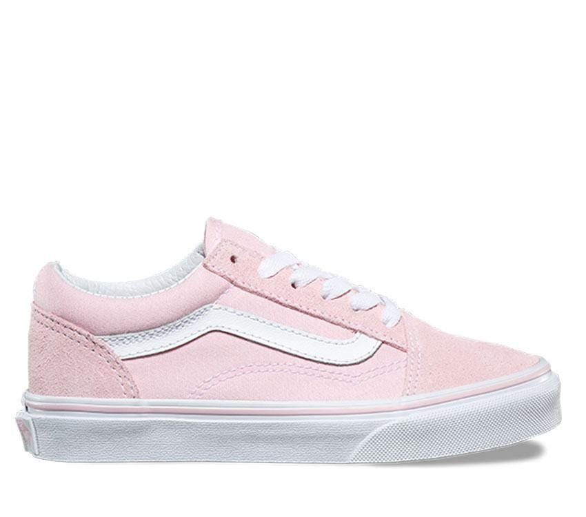 5e82a18e0c2e Vans Kids Old Skool Suede Canvas Chalk Pink True White - 50-50 Skate Shop